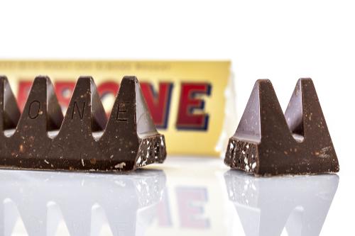 Toblerone-sjokolade.